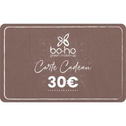 Carte cadeau 30 € Boho Green Make-Up
