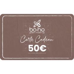 Carte cadeau 50 euros Boho Green Make-up