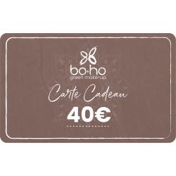 Carte cadeau 40 euros Boho Green Make-up