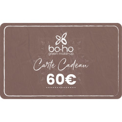 Carte cadeau 60 euros Boho Green Make-up