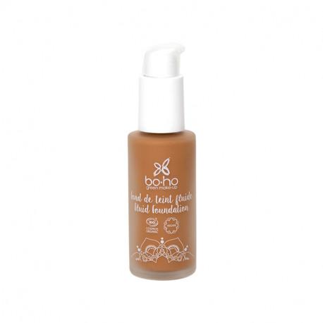 Fond de teint fluide bio Caramel brun photo officielle de la marque Boho Green Make-Up