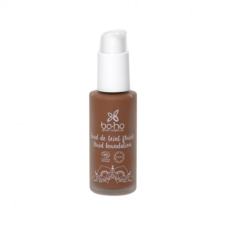 Fond de teint fluide bio Cacao froid photo officielle de la marque Boho Green Make-Up