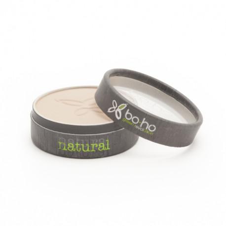 Poudre compacte bio Beige clair photo officielle de la marque Boho Green Make-Up