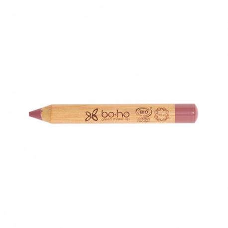 Crayon jumbo lèvres bio Vieux rose photo officielle de la marque Boho Green Make-Up